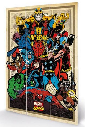 Marvel - Avengers to Action - Wooden Panel Wall Art