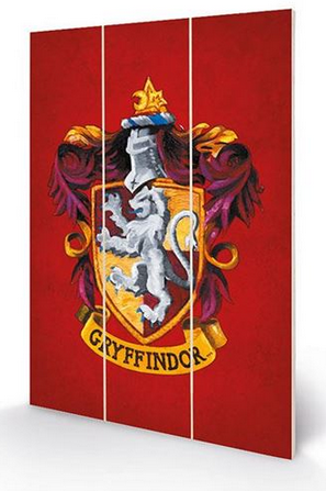 Gryffindor - Harry Potter - Wooden Panel Wall Art