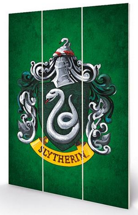 Slytherin - Harry Potter - Wooden Panel Wall Art