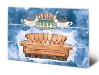 Friends - Central Perk Sofa - Wooden Panel Wall Art