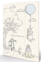 Winnie The Pooh - Wooden Panel Wall Art