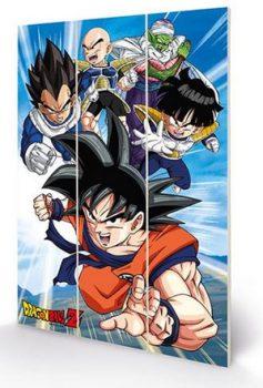 Dragonball Z - Strength And Heart Of A Hero - Wooden Panel Wall Art