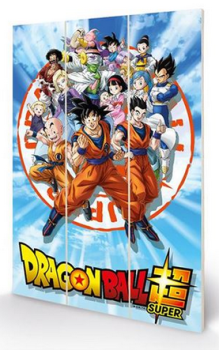 Dragonball Z - Goku And the Z Fighters - Wooden Panel Wall Art