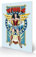 Wonder Woman 1984 Retro Comic Cover - Wooden Panel Wall Art