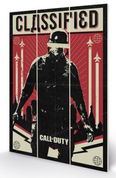 Call Of Duty Black Ops Cold War Classified - Wooden Panel Wall Art