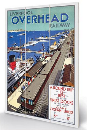 Liverpool Overhead Railway 1923 - Wooden Panel Wall Art
