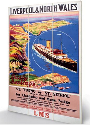 Liverpool And North Wales Daily Sailings - Wooden Panel Wall Art