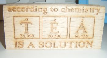 According to Chemistry Tea is a Solution - Message Block