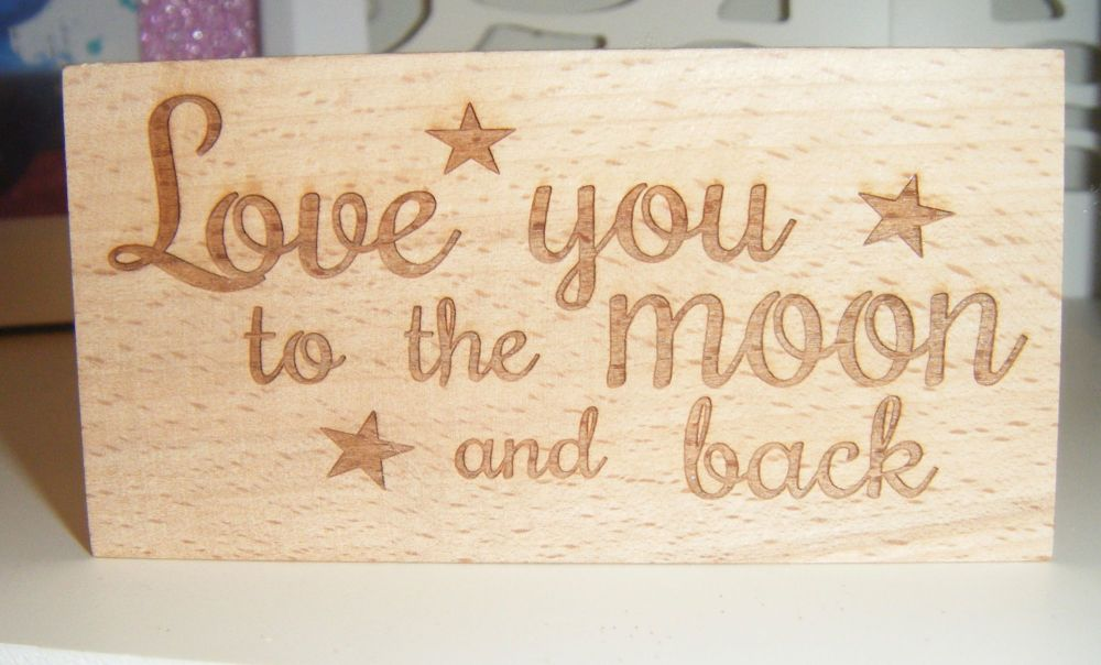 Love You To The Moon And Back  - Message Block