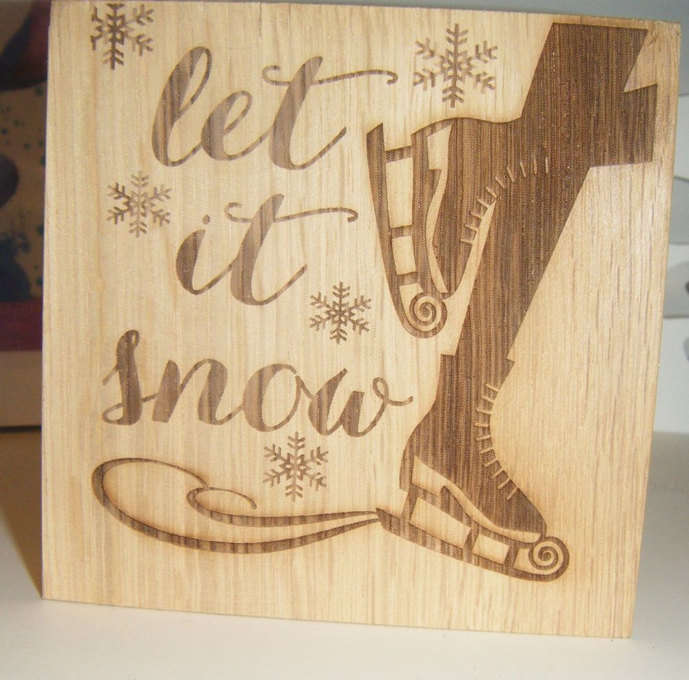 Let It Snow - Wooden Block