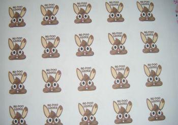A4 35 Per Sheet Sheet of Ha-Poo Easter Stickers