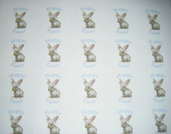 A4 35 Per Sheet Sheet of Happy Easter Bunny Rabbit Stickers