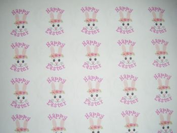 A4 35 Per Sheet Sheet of Happy Easter Bunny Rabbit Stickers 2