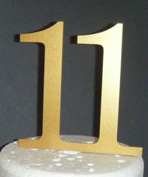 11 Cake Topper  (Sold design Exactly as shown)