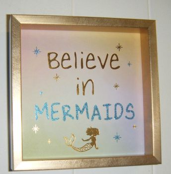 Believe In Mermaids - Deep Block Wall Art