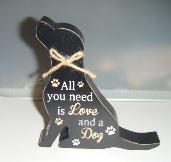 All You Need is Love And a Dog - Dog Shaped Block