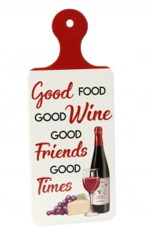 Good Food, Good Wine' Kitchen Sign - Ceramic Cork Backed