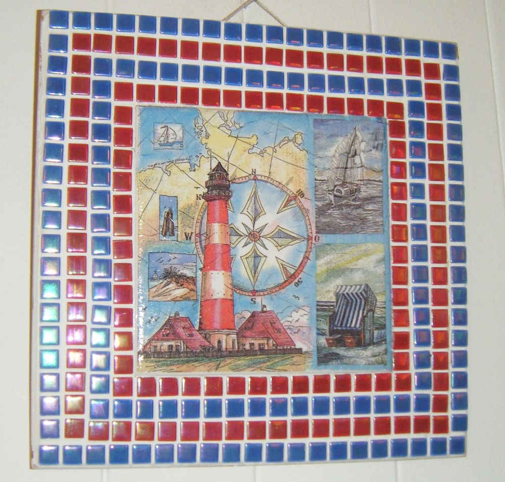 Lighthouse Mosaic Art Decoupage Picture