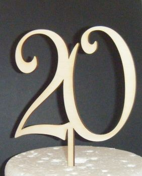 20 Cake Topper  (Sold design Exactly as shown) Design 2