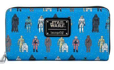 Loungefly Star Wars Charater AOP Zip Around Purse
