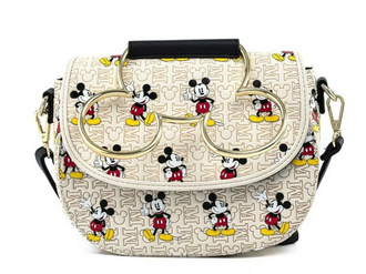Loungefly Mickey Mouse Hardware AOP Crossbody Bag