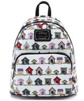 Disney Dog Houses Fun AOP Design  - Loungefly Mini Backpack
