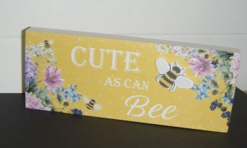 Cute As Can Bee - Freestanding Block