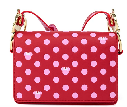 Disney by Loungefly Cossbody Minnie Mouse Dots Pink