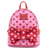 Disney by Loungefly Minnie Mouse Dots Pink Backpack And Fanny Pack In 1