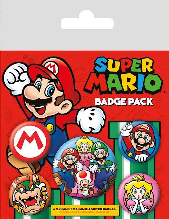 Super Mario Nintendo Badge Pack