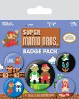Super Mario Bros Nintendo Badge Pack