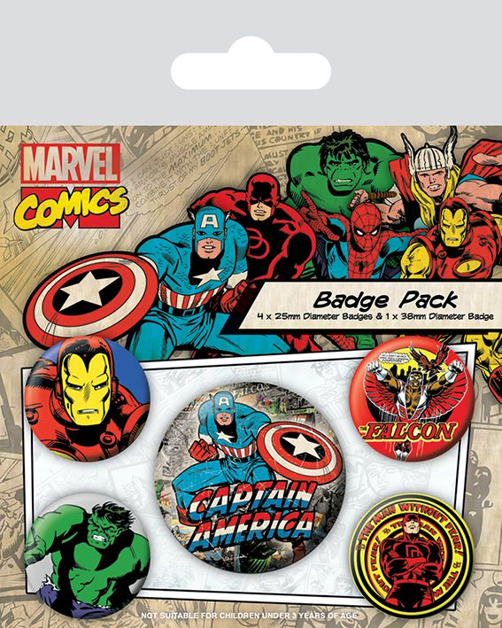 Marvel Comics Captain America Badge Pack