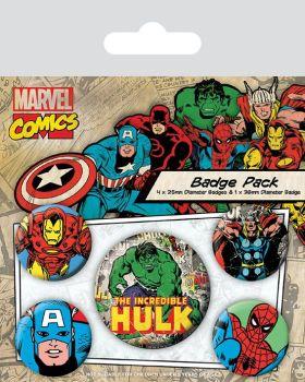 Marvel Comics Hulk Badge Pack