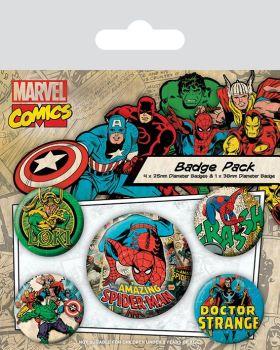 Marvel Comics Spider Man Badge Pack