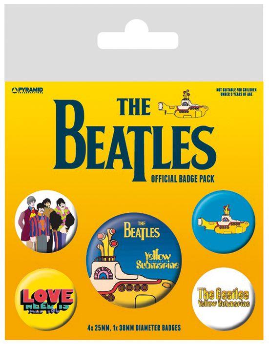 The Beatles Yellow Submarine Badge Pack