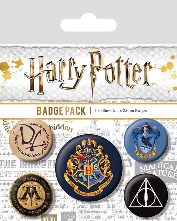 Harry Potter Hogwarts Badge Pack