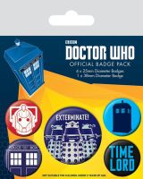 Dr Who Exterminate Badge Pack