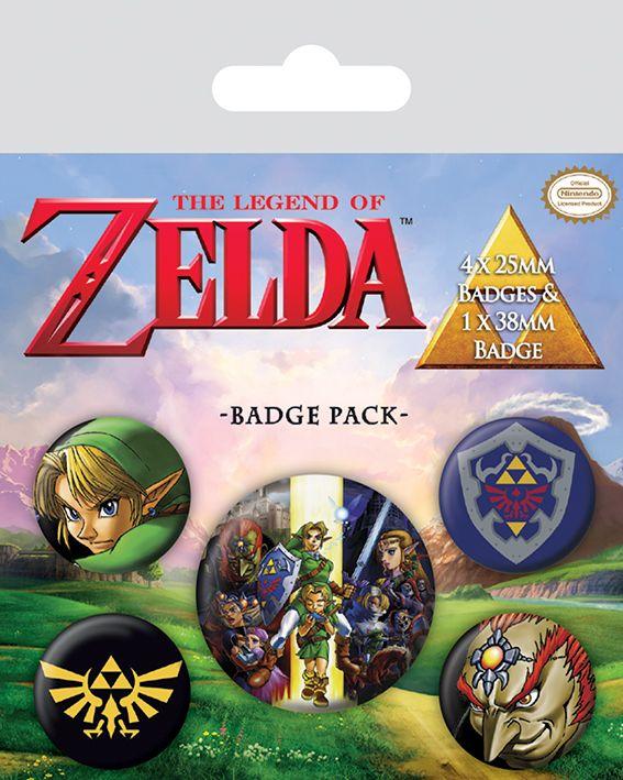 The Legend Of Zelda Badge Pack