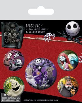 Nightmare Before Christmas Characters Badge Pack