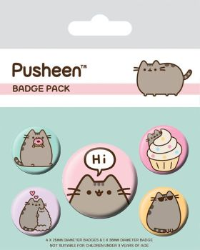 Pusheen Says Hi Badge Pack