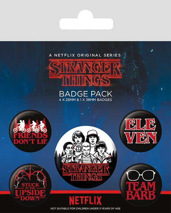 Stranger Things Characters Badge Pack