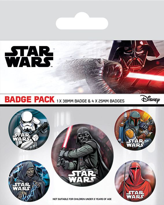 Star Wars Darth Vader Dark Side Badge Pack