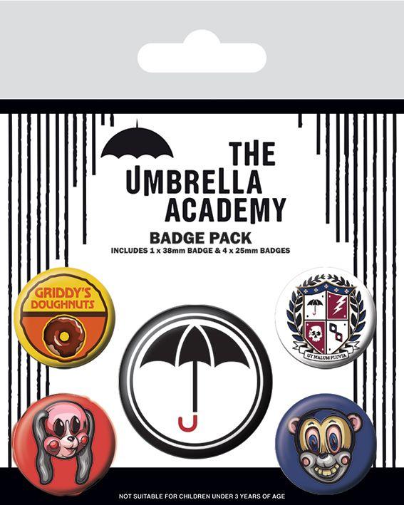 The Umbrella Academy Badge Pack