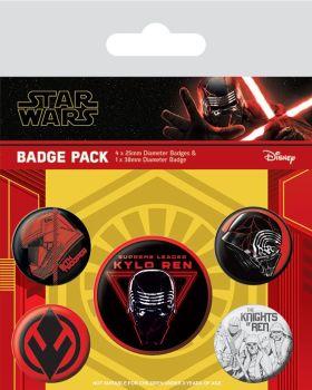 Star Wars Rise Of Skywalker Sith Kylo Ren Badge Pack