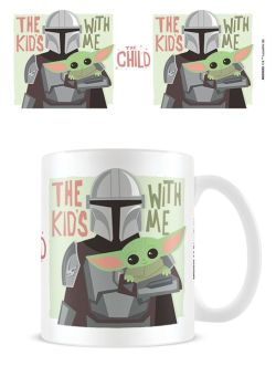 Star Wars Mandorlian - The Kids With Me - The Child Yoda - Coffee Mug