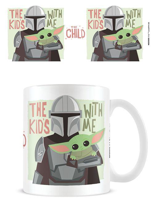 Star Wars Mandorlian - The Kids With Me - The Child Yoda - Coffee Mug