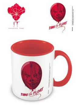 IT Clown - Time to Float - Red Interior - Coffee Mug