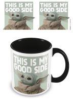 Mandalorian Child Yoda - This Is My Good Side - Black Interior - Coffee Mug