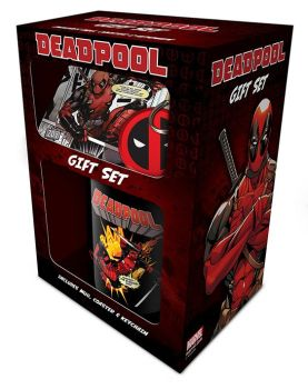 Deadpool Gift Set - Coffee Mug, Coaster And Keyring