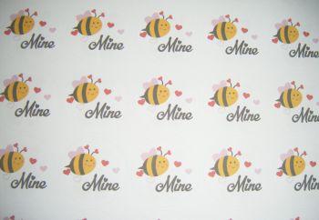 A4 35 Per Sheet Sheet of Bee Mine Stickers
